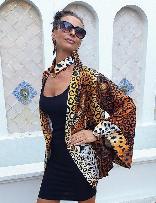 Jaguar kimono blazer