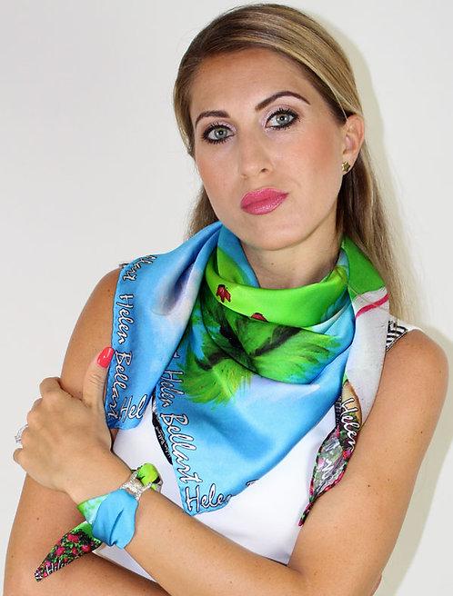 Golf Lady silk scarf 90x90 cm
