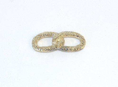 Gold Join Infinity Ring for silk bracelet