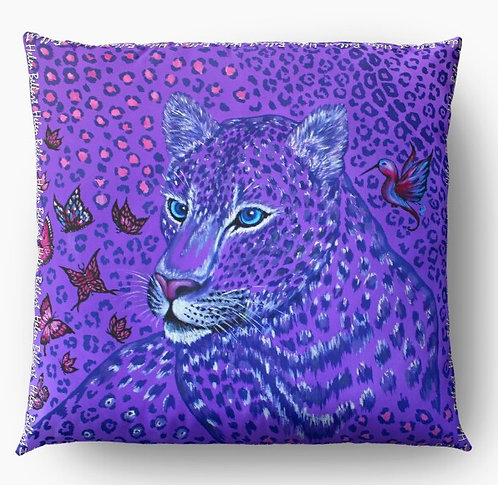 Purple Animal Print decorative pillow cover
