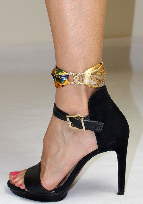 Lucky Cat ankle silk bracelet