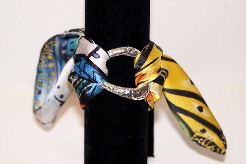 Caught Butterfly silk bracelet