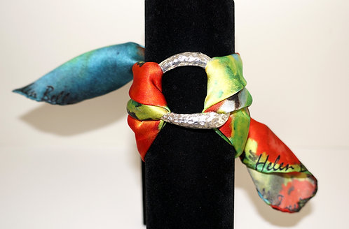 Poppies silk bracelet