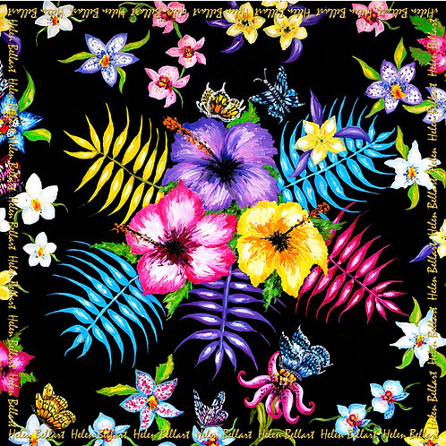 Hawaii silk scarf 110x110 cm