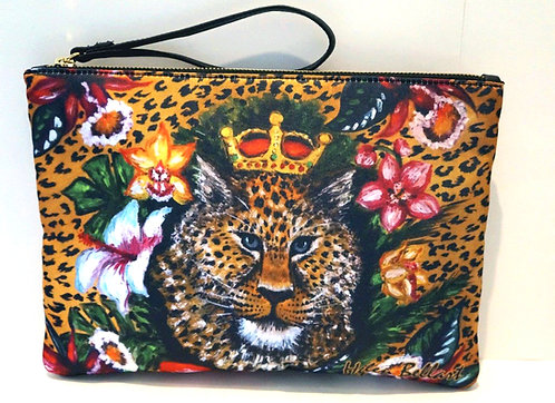 Leopard clutch bag
