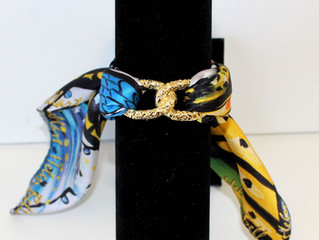 NEW JOIN INFINITY SILK BRACELET BY HELEN BELLART