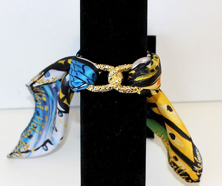 Caught Butterfly Join Infinity silk bracelet