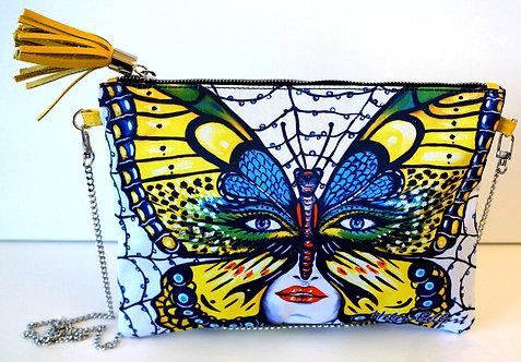 Caught Butterfly clutch bag