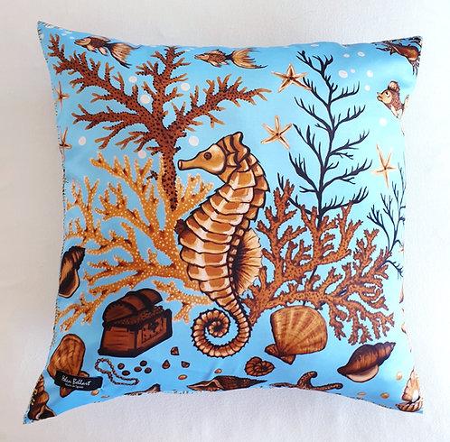 Sea treasure decorative pillow cover