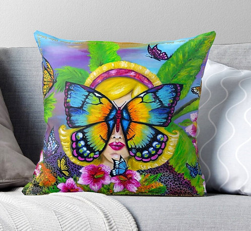 Butterfly decorative pillow cover