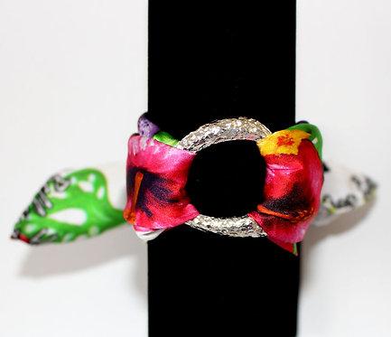 Tropical garden silk bracelet