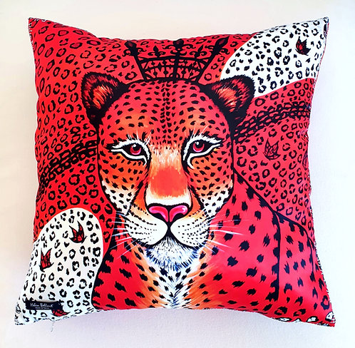 Orange Leopard decorative pillow cover