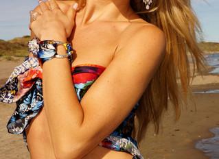 Pure Joy of Life on silk. Summer feelings by Helen Bellart.
