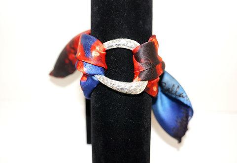 Coral silk bracelet