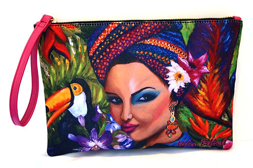 Exotic woman clutch bag