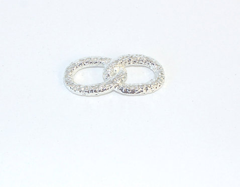 Silver Join Infinity Ring for silk bracelet