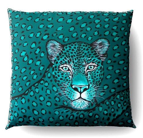 Esmeralda Leopard decorative pillow cover