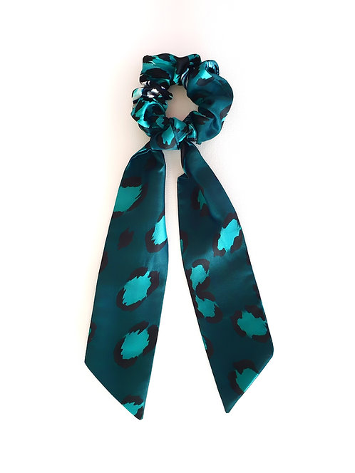 Esmeralda Leopard bow scrunchie