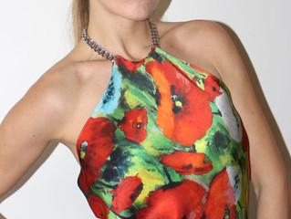 Poppies Silk Top & 8 Ideas how to wear it... by Helen Bellart