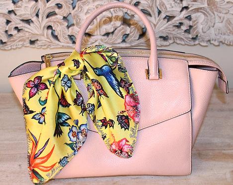 Butterfly Paradise silk scarf 45x45 cm