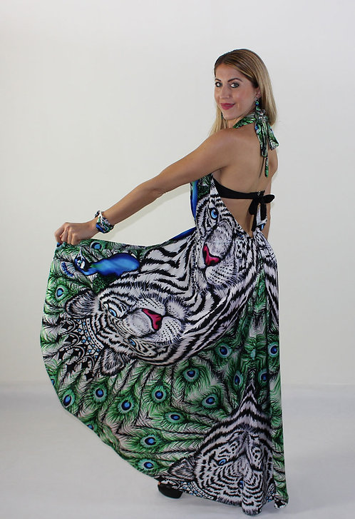 White Tiger crossover dress with double use