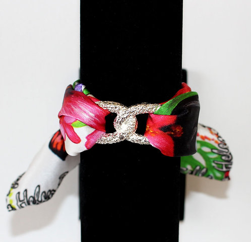 Tropical garden Infinity silk bracelet