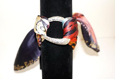 Venetian mask silk bracelet