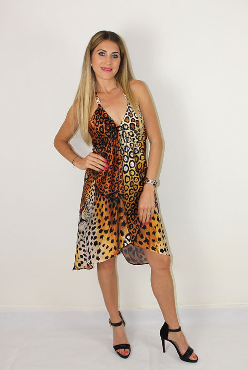 Jaguar silk dress