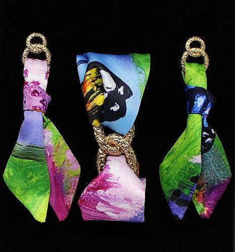 Butterfly tie earring & bracelet