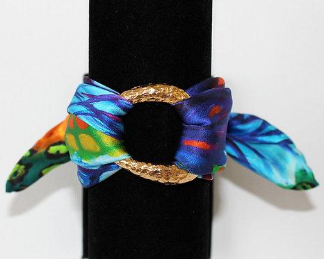 Blue Iris silk bracelet