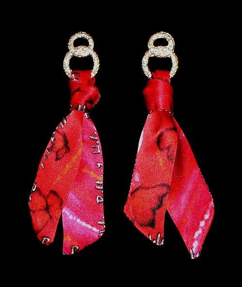Lady Butterfly silk tie earring