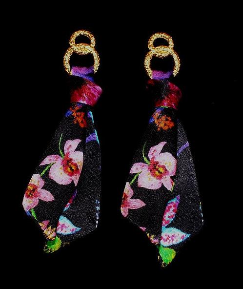 Hawaii silk tie earring