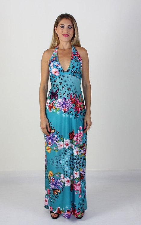 Spring long backless dress