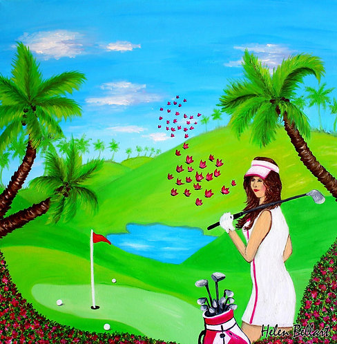 Golf lady artwork