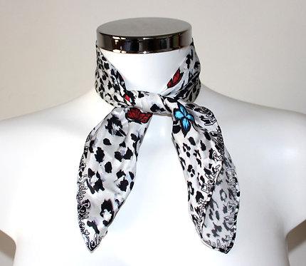 Savage silk scarf 45x45 cm