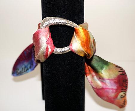Blooming iris silk bracelet