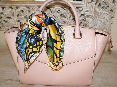 Caught Butterfly silk scarf 45x45 cm