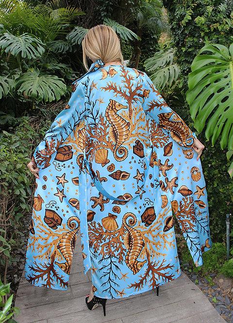 Sea Treasure long kimono