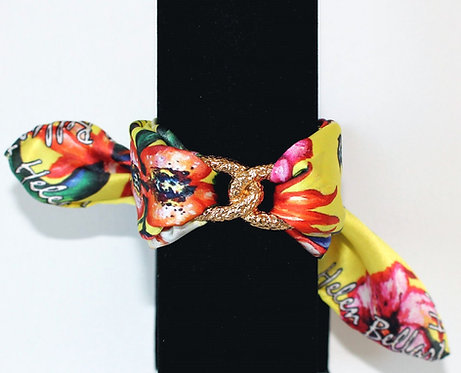 Butterfly Paradise Infinity silk bracelet