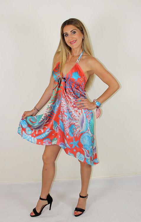 Seahorse silk dress