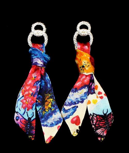 Fall in Love silk tie earring