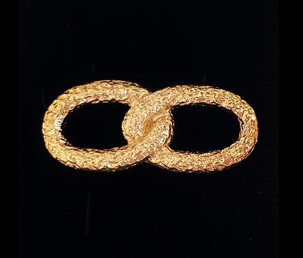 Gold Infinity Ring for bracelet