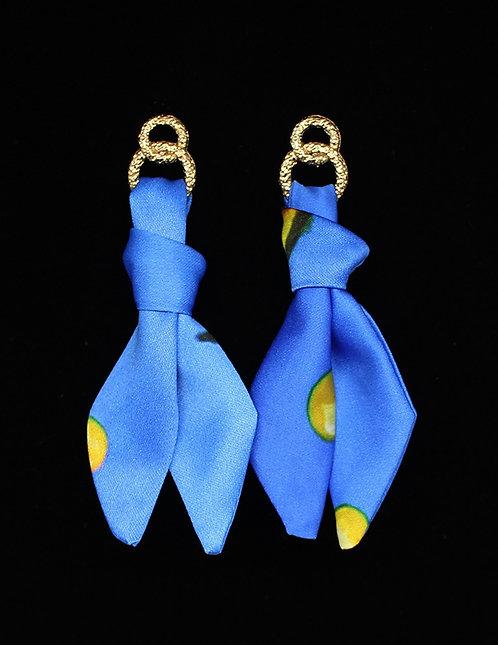 Yellow Seahorse tie earring