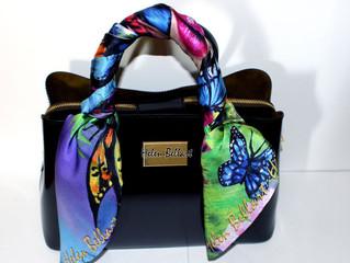 Pure elegance with designer silk scarves by Helen Bellart.