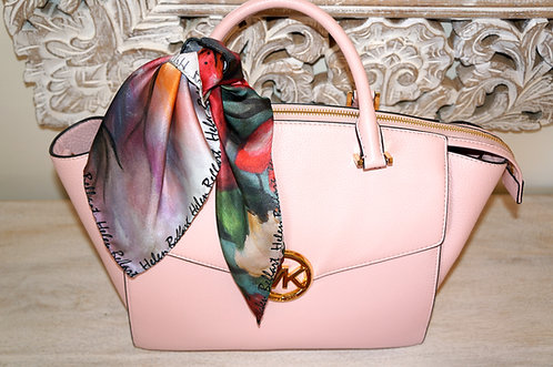 Blooming cherry silk scarf 45x45 cm
