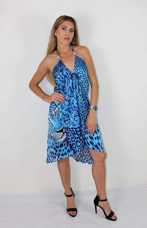 Feline silk dress