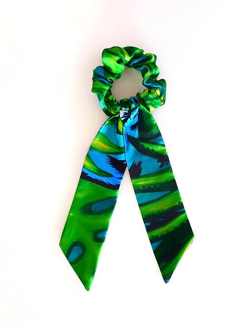 Jungle Leopard bow scrunchie
