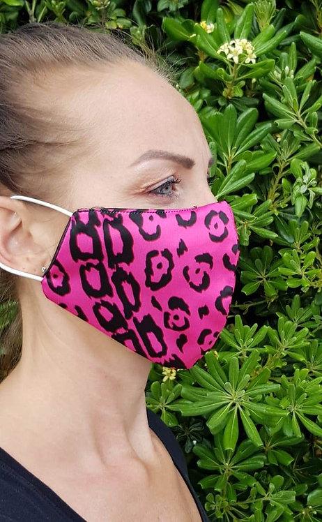 Pink Leopard designer face mask- FREE SHIPPPING