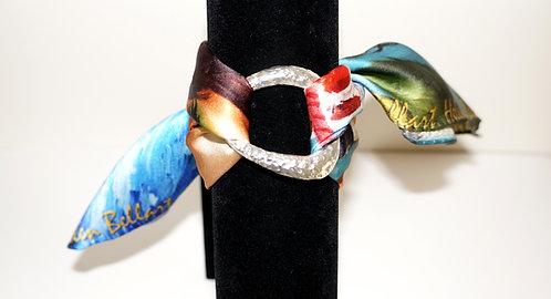 Caribbean woman silk bracelet
