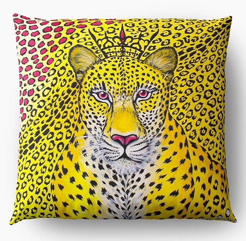 Yellow Leopard decorative pillow cover